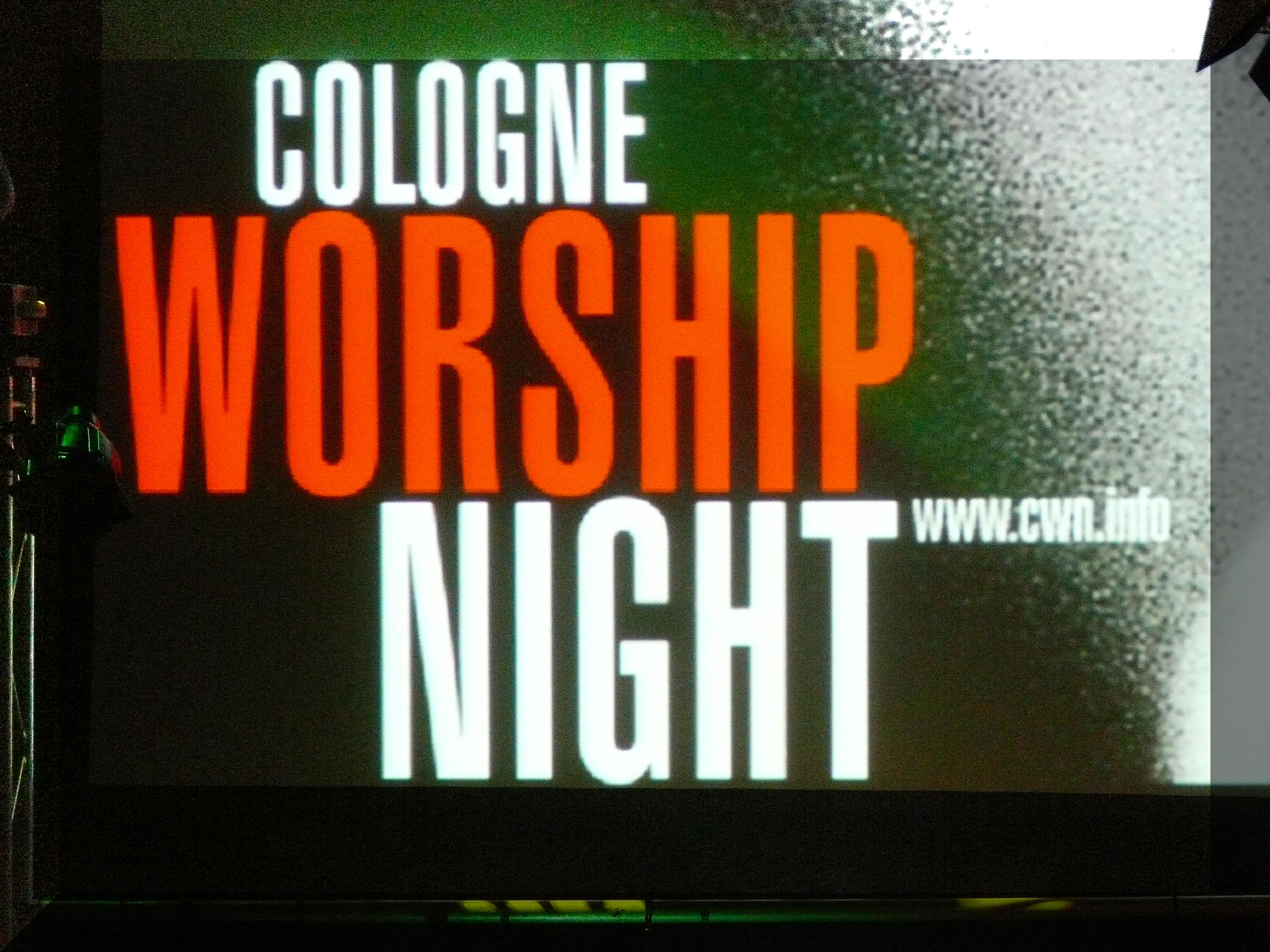 cologne worship night
